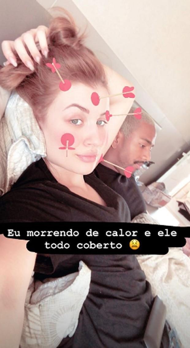 Nego do Borel e Julia Schiavi (Foto: Reprodução/Instagram)