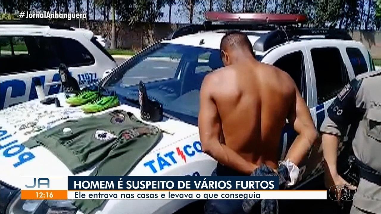 Homem é preso suspeito de furto em Goiânia