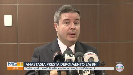 Senador Antonio Anastasia presta depoimento na PF em BH sobre delação da Odebrecht