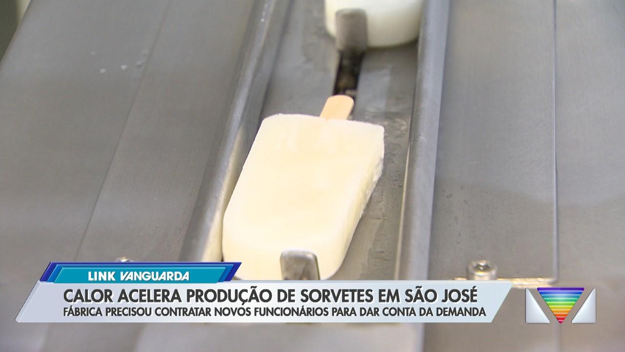 Calor acelera produção de sorvetes em São José