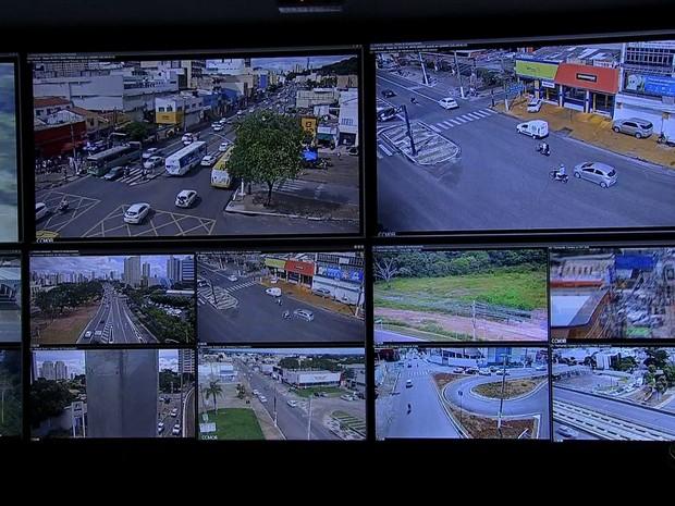 Central de Monitoramento irá funcionar dentro da Semob, em Cuiabá (Foto: TVCA/Reprodução)