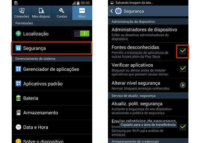 Permita a instalação de apps de fora do Google Play (Foto: Reprodução/Paulo Alves)