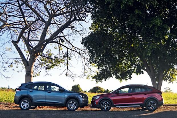 Volkswagen Nivus e Chevrolet Tracker - Tracker tem cabine maior; Nivus, porta-malas maior (Foto: André Schaun)