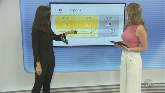 Confira a previsão do tempo nas cidades da região nesta segunda-feira (14)