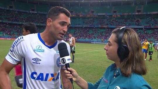 """""""O que fizemos mostra nossa vontade"""" diz Gilberto autor do gol do Bahia"""