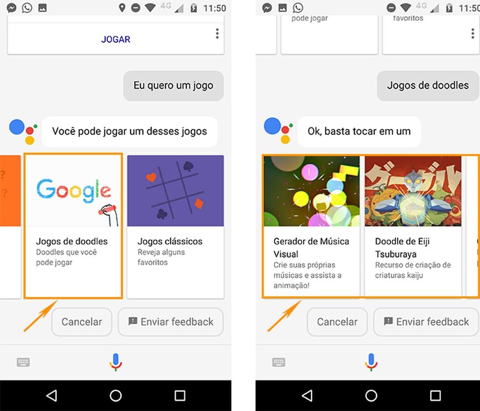 Alguns dos populares Doodles do Google também estão disponíveis como jogos no Android (Foto: Reprodução/Barbara Mannara)