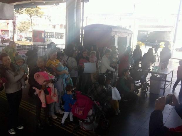 Mamaço em Santo André no Terminal Vila Luzita nesta quinta-feira (12) (Foto: Reprodução/Facebook)