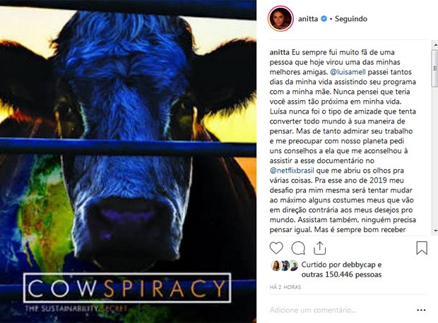 Post de Anitta (Foto: Reprodução)