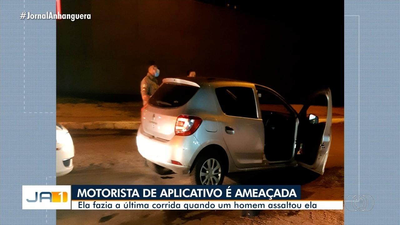 Motorista é assaltada após fazer corrida, em Goiânia