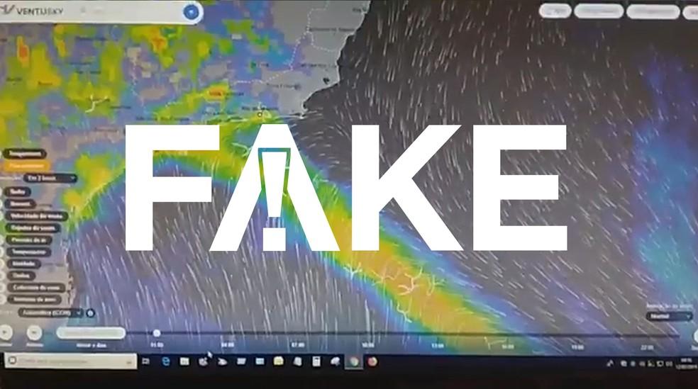 Vídeo tem mensagem falsa — Foto: Reprodução