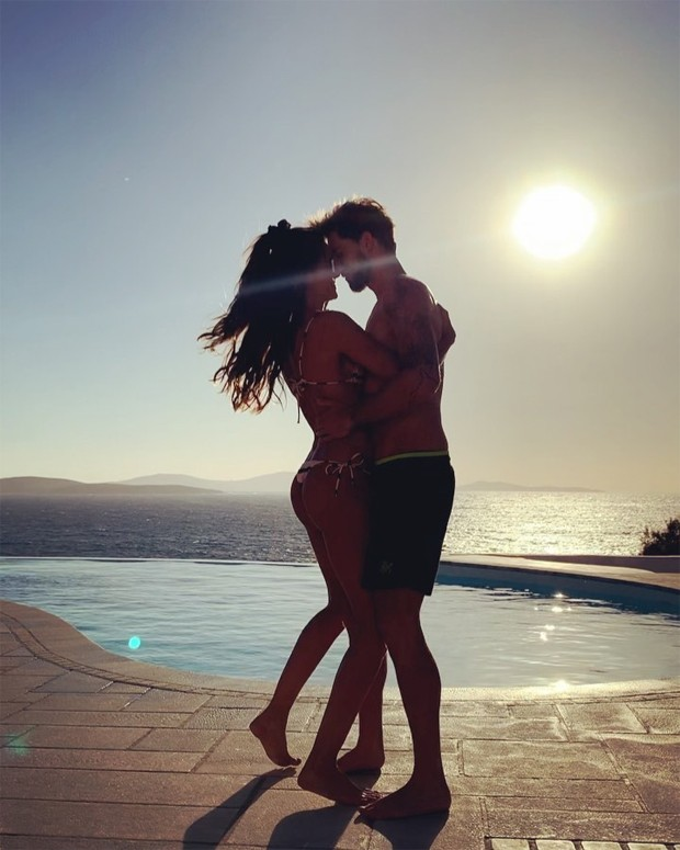 Izabel Goulart) and Kevin Trapp (photo: playback / Instagram)
