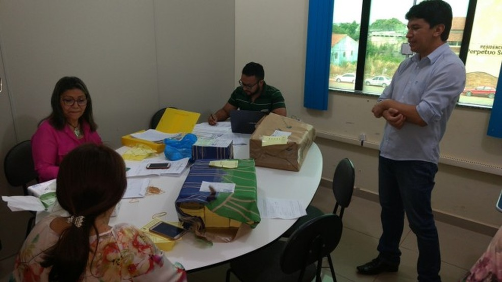 Distribuição de cédulas de votação começou a ser feitas na terça-feira (12) (Foto: PMS/Divulgação)