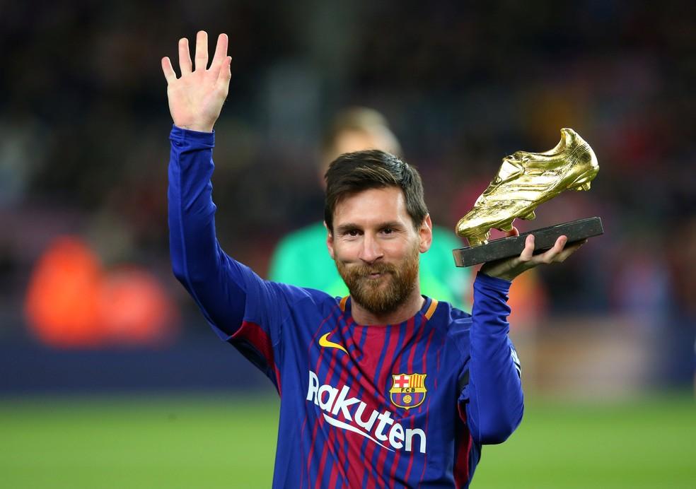 Messi ganha prêmio do Guardian pelos gols e assistências ao longo da temporada (Foto: Reuters)