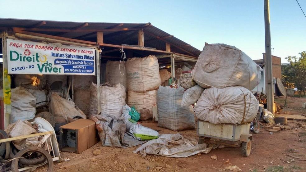 Homem doa mais de R$ 140 mil para Hospital de Amor em RO com dinheiro arrecadado da reciclagem de latinhas — Foto: Reprodução