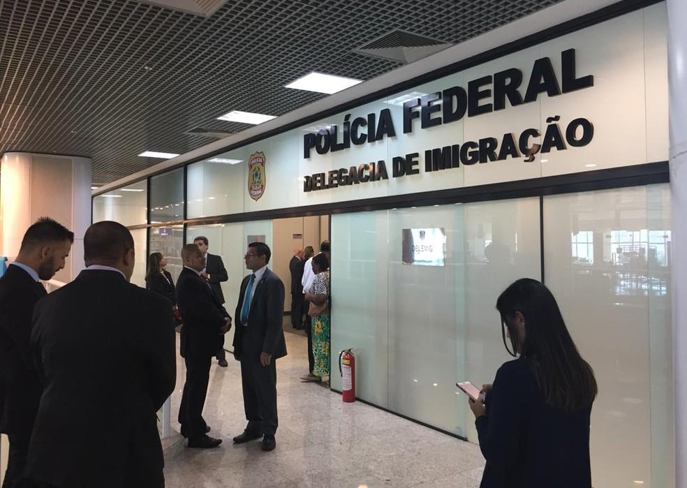 Nova delegacia de emissão de passaportes no Santos Dumont — Foto: Daiene dos Santos/G1
