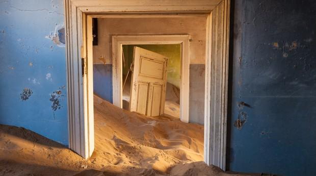 Cidade-fantasma na Namíbia tem chamado a atenção de consumidores (Foto: Reprodução)