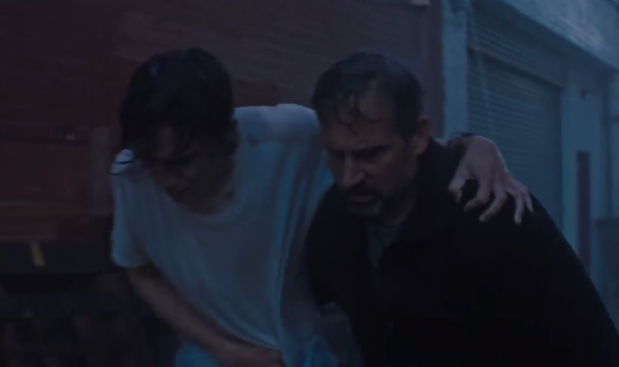 O ator Thimothée Chalamet em cena de Beautiful Boy com Steve Carell (Foto: YouTube)