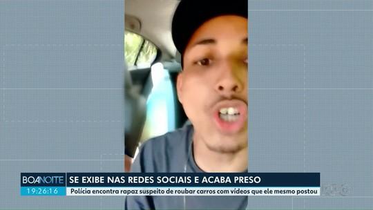 Suspeito de furtos e roubos de carros é preso no Paraná após vídeo nas redes sociais