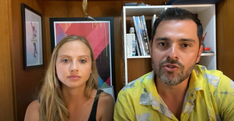 Marcos Vaz e Inês Lafosse publicaram um vídeo para explicar o que os levou a deixar a cidade após ameaças — Foto: Reprodução/Youtube