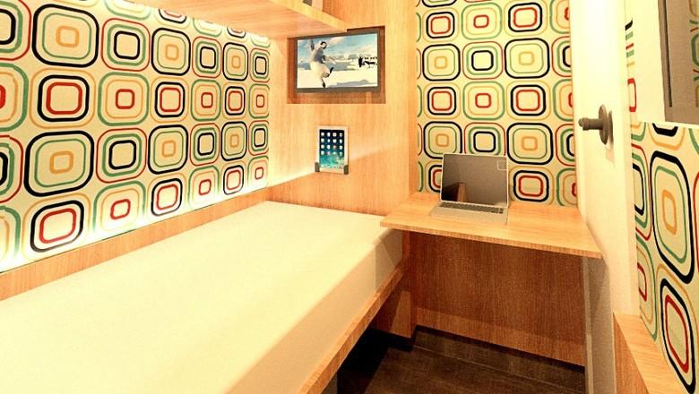 sleepboll-cabine-sono-descanso-caminhoneiros-estradas-posto (Foto: SleepBoll/Divulgação)