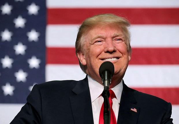 O candidato republicano à presidência dos EUA, Donald Trump , discursa no Colorado (Foto: Chip Somodevilla/Getty Images)