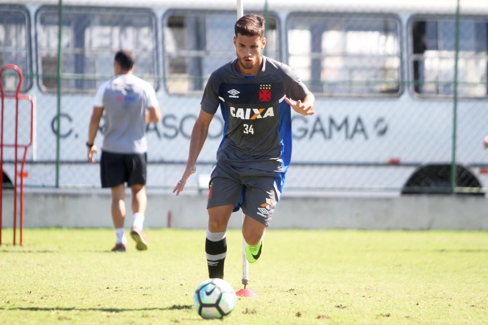 Guilherme em treino do Vasco nesta quarta-feira (Foto: Paulo Fernandes / Divulgação)