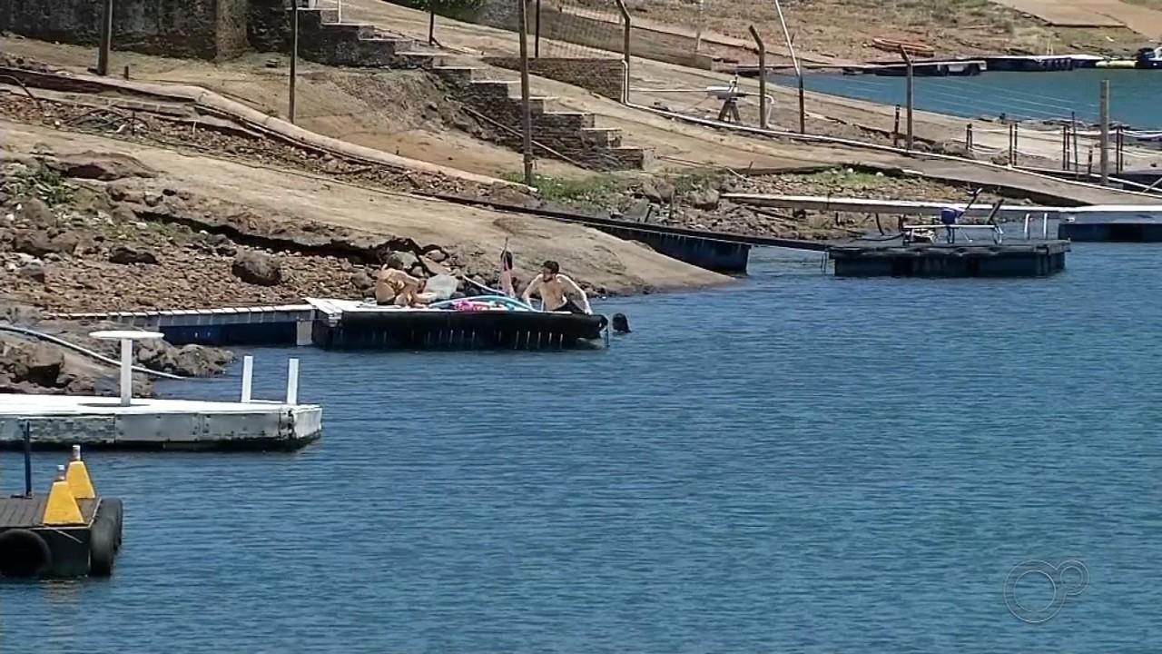 Estiagem afeta nível da represa da hidrelétrica em Chavantes e pode comprometer o turismo