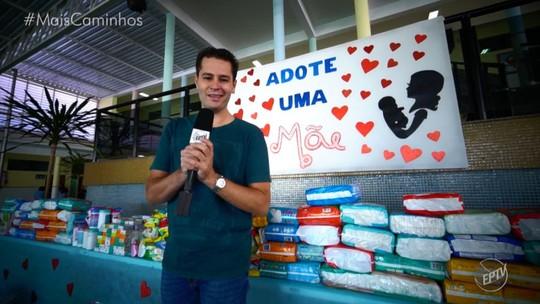 Solidariedade: Pedro Leonardo conhece o projeto 'Adote uma Mãe'