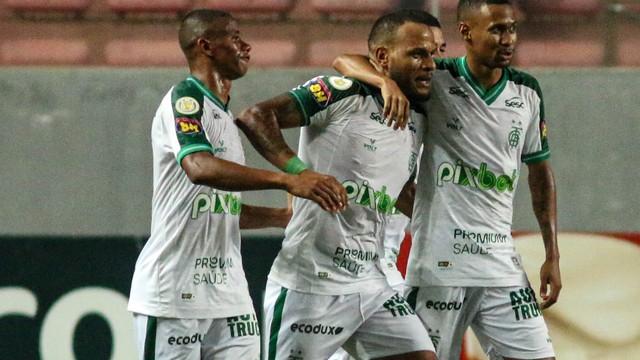 Patric comemora em América-MG x Palmeiras
