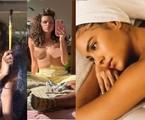 Alanis Guillen (Juma), Bruna Linzmeyer (Madeleine) e Bella Campos (Muda) mostram, na web, fotos de topless ou apenas com acessórios | Reprodução