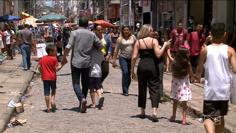 Pesquisa aponta crescimento da intenção de consumo para o Dia das Crianças em São Luís — Foto: Reprodução/TV Mirante