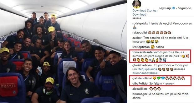 Famosos deixam comentários parabenizando a Seleção após vitória contra a Sérvia (Foto: Reprodução/Instagram)