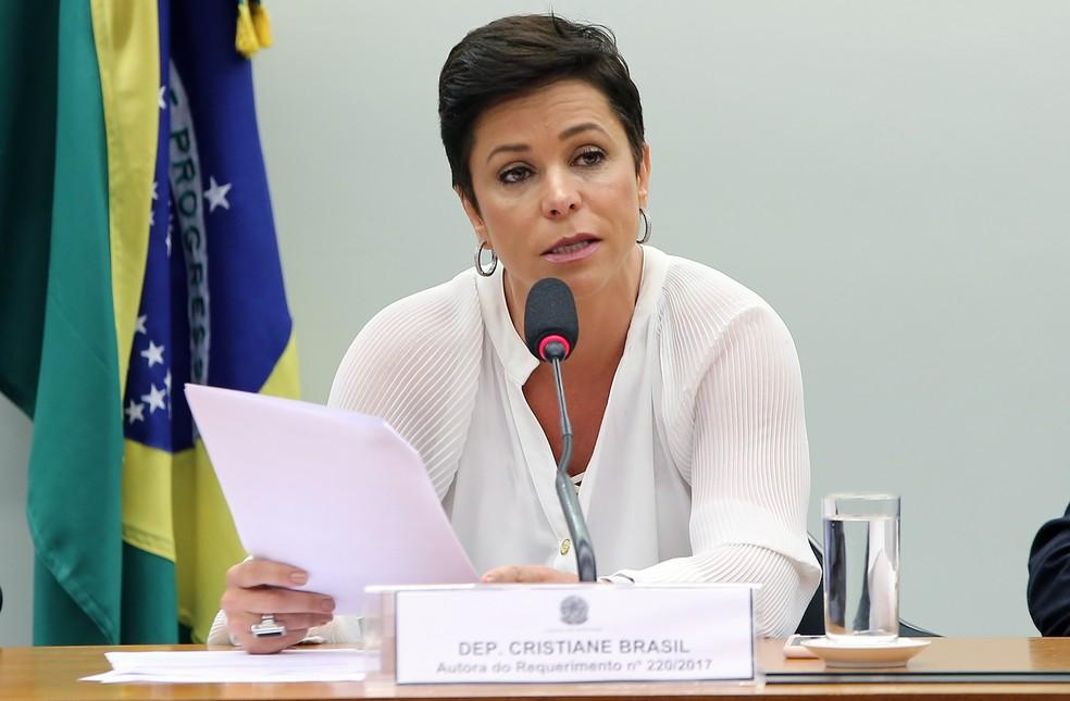 A deputada federal Cristiane Brasil (RJ), indicada pelo PTB para assumir o Ministério do Trabalho em audiência pública em agosto na Câmara (Foto: Gilmar Felix/Câmara dos Deputados)