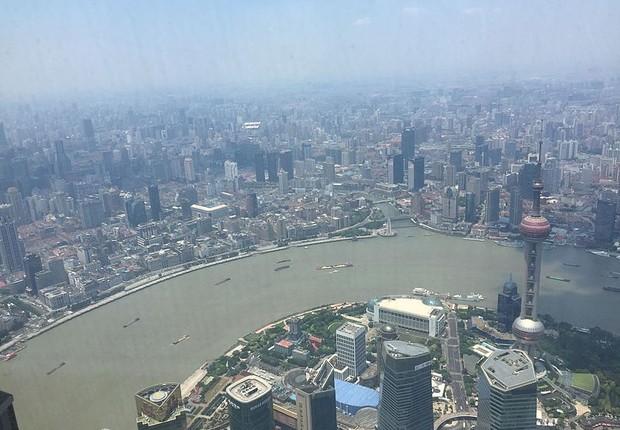 Vista da Torre de Xangai, o edifício mais alto da China e segundo mais alto do mundo (Foto: Wikimedia Commons)