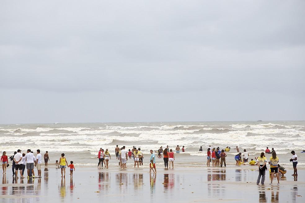 Praia da Aruana em Aracaju (SE) (Foto: Marco Vieira/PMA)