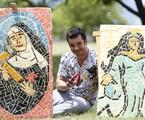 Thiago Mendonça exibe seus mosaicos | Ana Branco