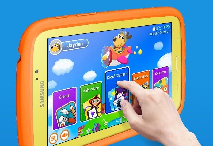 A Samsung também possui um tablet exclusivo para as crianças (Foto: Divulgação)