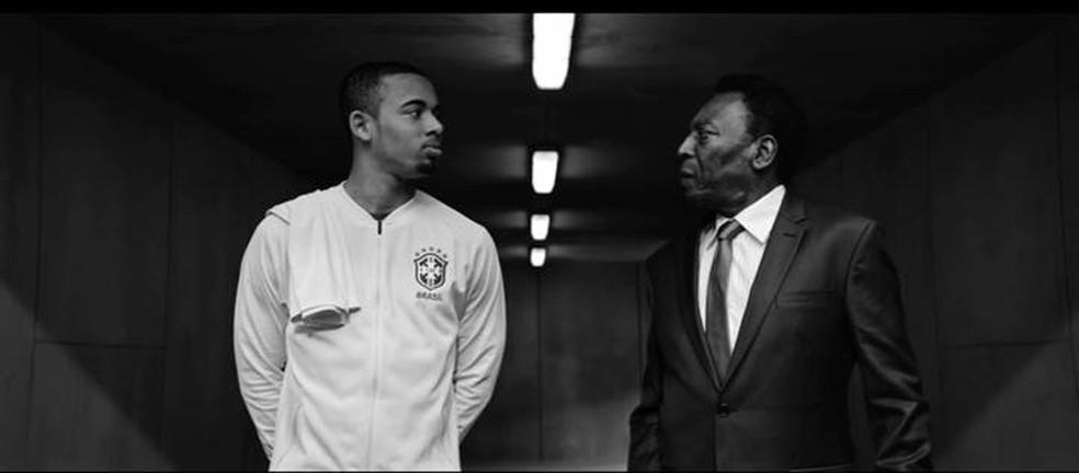 Pelé aconselha Gabriel Jesus em comercial da Vivo (Foto: Divulgação)