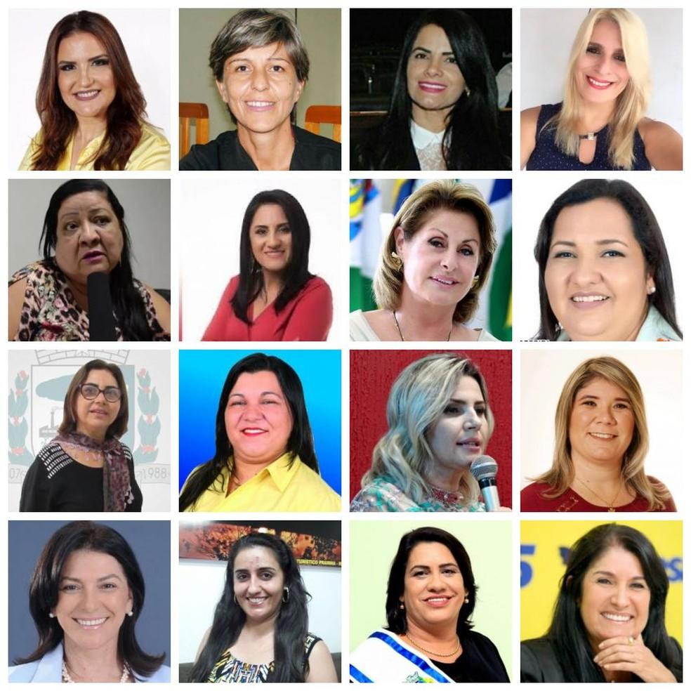 Das 141 prefeituras apenas 16 são ocupadas por mulheres em MT — Foto: Reprodução/Montagem