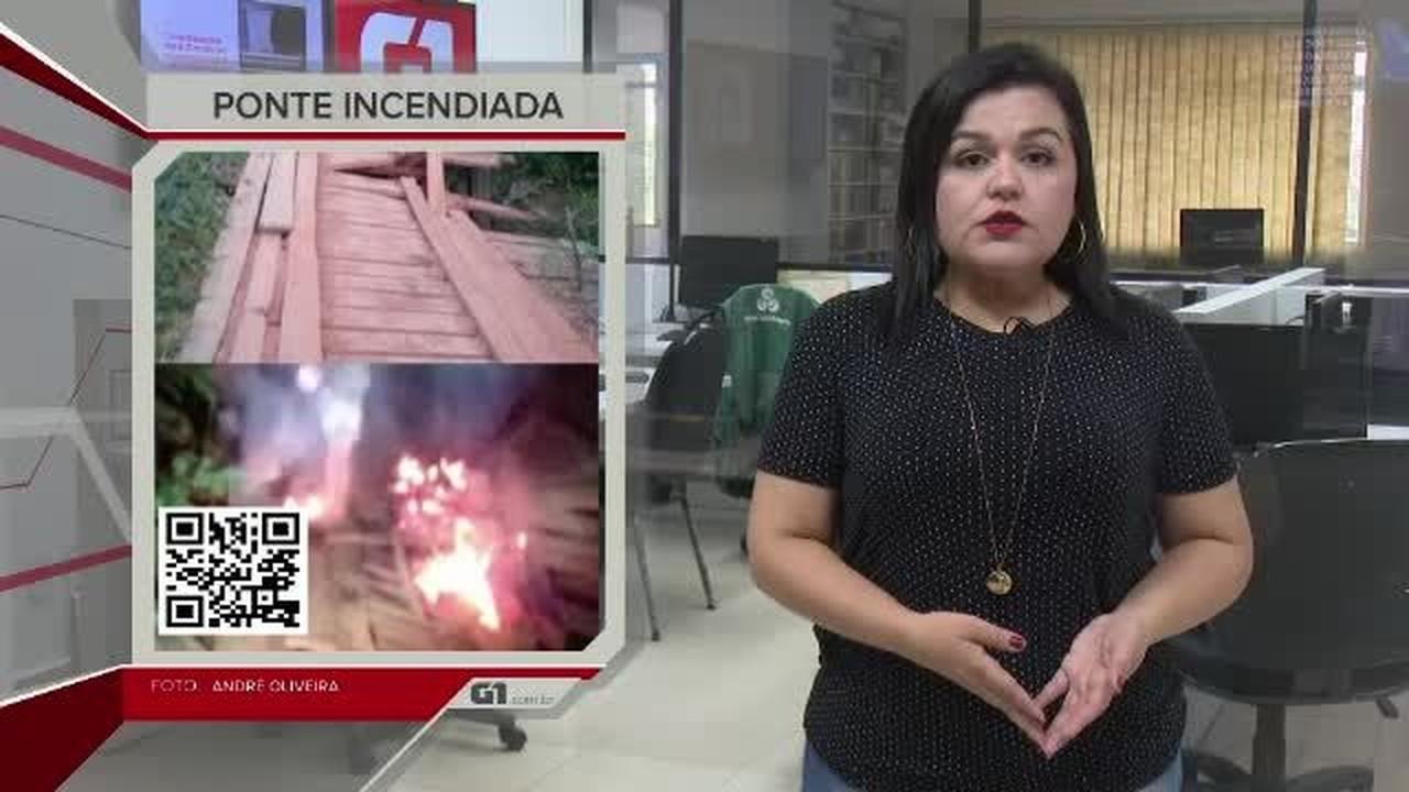 G1 em 1 Minuto - AC: Ponte é incendiada e deixa produtores sem acesso a ramal