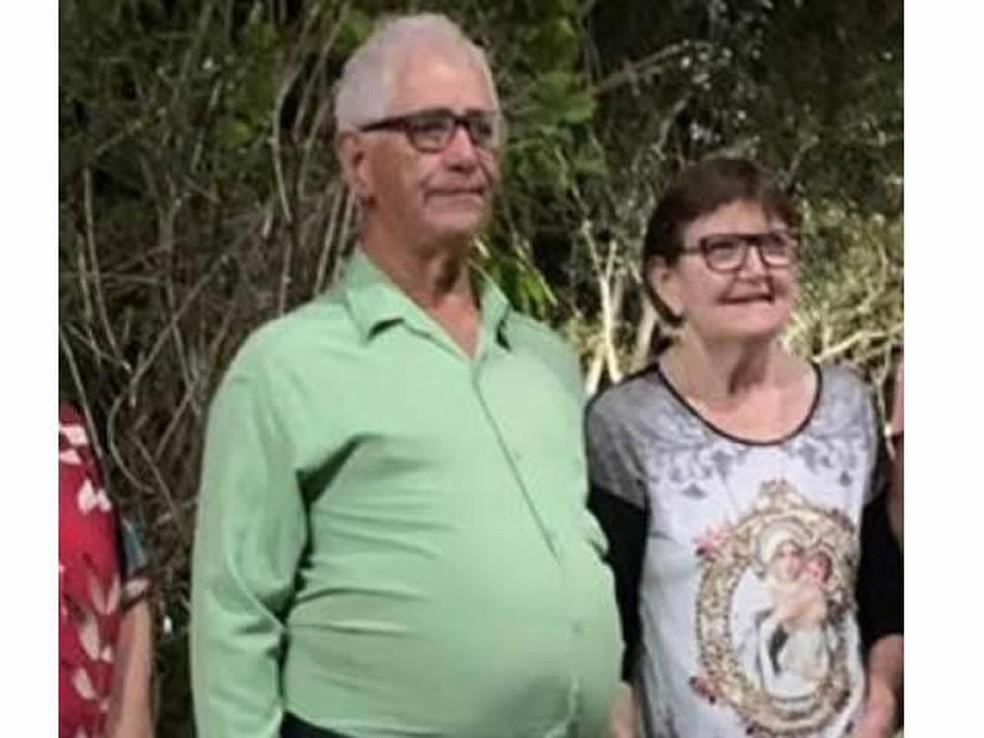 Osvaldo Machado, de 75 anos, e a mulher dele, Erci Rosa Caya Machado, 70 anos, morreram em um acidente em Colíder — Foto: Arquivo pessoal