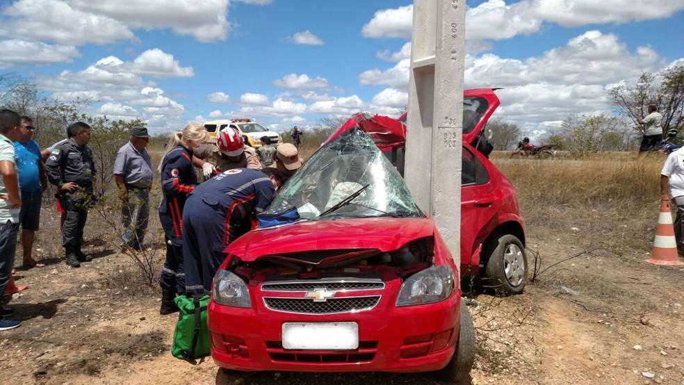 Acidente aconteceu por volta das 12h20 na RN-288  (Foto: Divulgação/ PM)