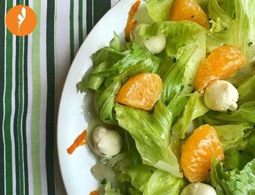 Salada refrescante do Verde Vicio: tangerina e cream cheese na receita
