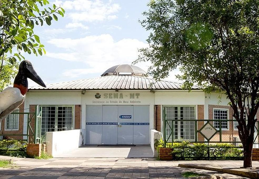 Biblioteca Arne Sucksdorff fica no prédio da Sema — Foto: Sema-MT/ Assessoria