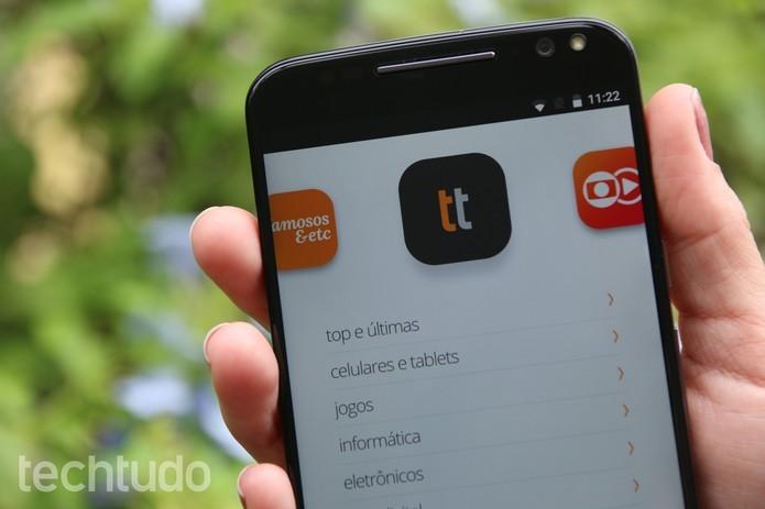 TechTudo tem aplicativo oficial para Android que deixa leitor por dentro das novidades (Foto: Anna Kellen Bull/TechTudo)