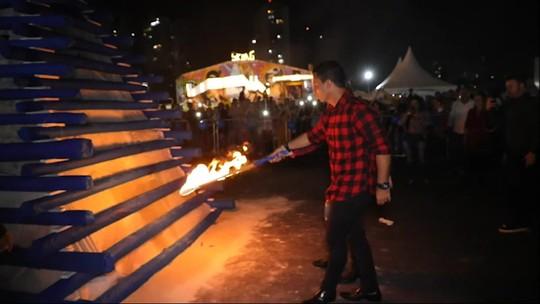 Formato da fogueira e uso de tecido são causas da explosão em Osasco