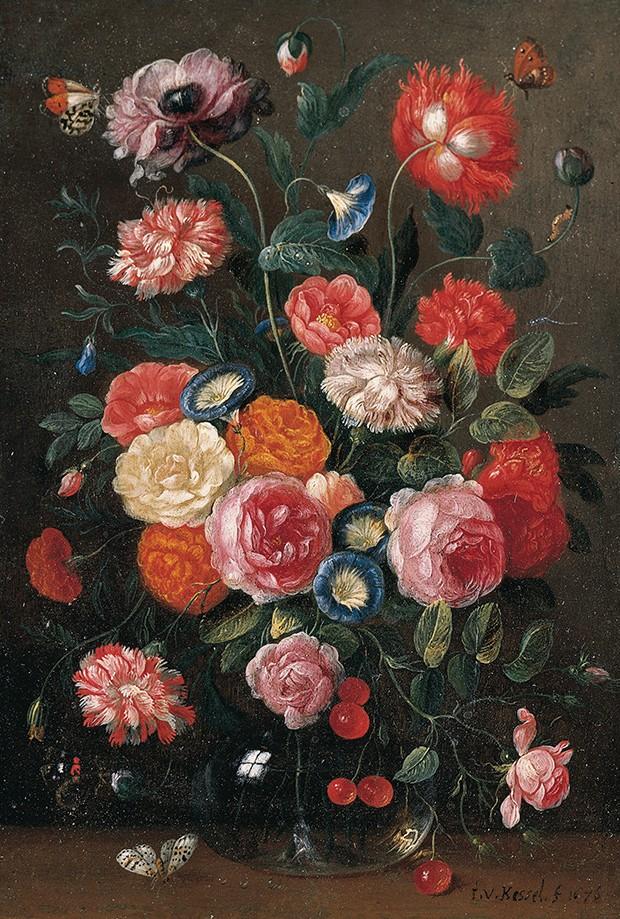 A arte do crime. A natureza morta de Jan van Kessel estava na sala da casa de Breitwieser (Foto: Bridgeman/Fotoarena)