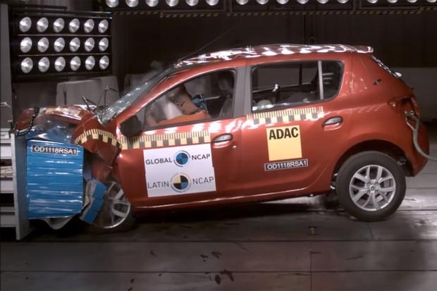 Renault Sandero Latin NCAP (Foto: Reprodução)