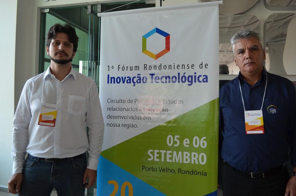 José Eduardo e Adelfo Braz, do CGTI, palestraram nesta terça no Fórum de Inovação Tecnológica (Foto: Toni Francis/G1)