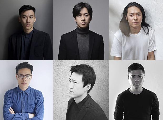 Os designers chineses Frank Chou, Chen Furong, Hongjie Yang, Mario Tsai, Ximi Li, Chen Xingyu (Bentu), destaques da instalação Rising Talents da Maison Objet 2019 (Foto: Divulgação)